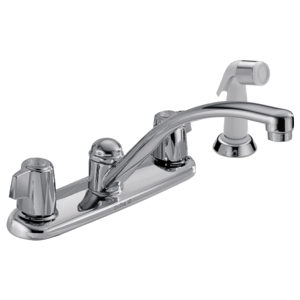 Two Handle Kitchen Faucet With Spray 2400lf Delta Faucet