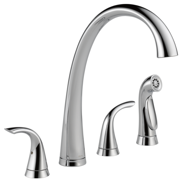 Two Handle Widespread Kitchen Faucet with Spray
