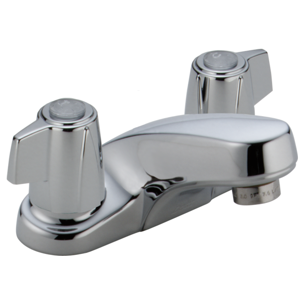 Two Handle Centerset Lavatory Faucet Less Pop Up 2500 Delta Faucet
