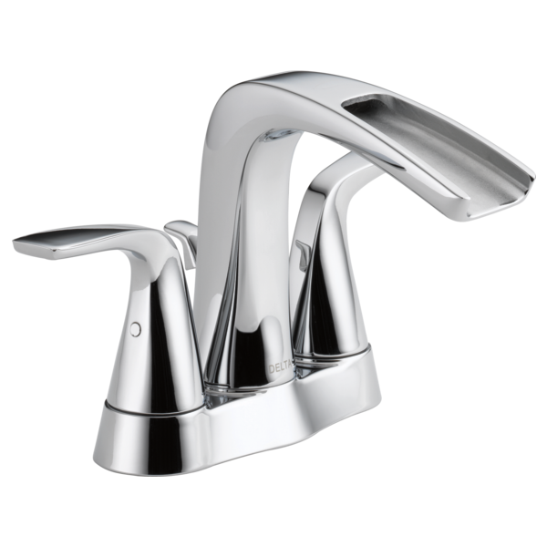 Two Handle Centerset Bathroom Faucet LFECO Delta Faucet - Delta waterfall bathroom faucet