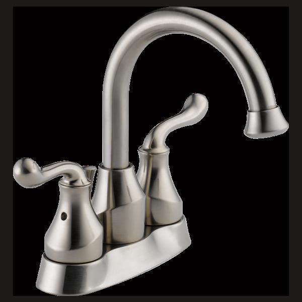 Two Handle Centerset Bathroom Faucet 25960lf Ss Delta Faucet