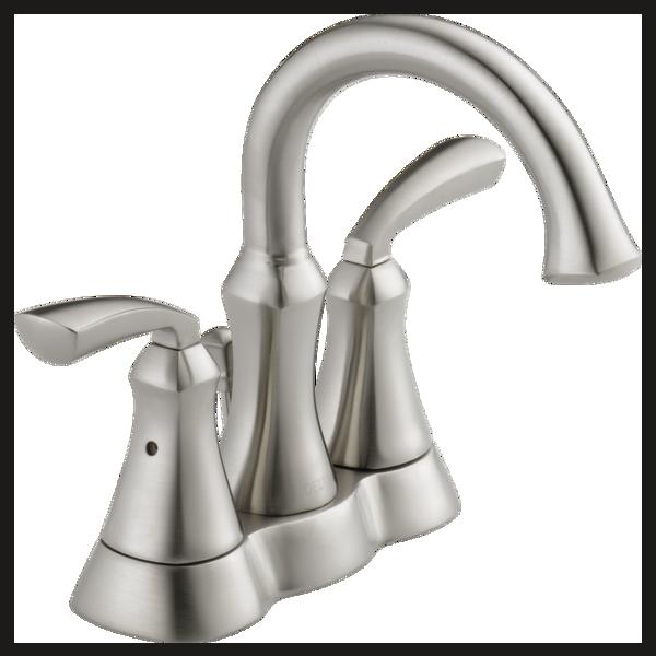 Two Handle Centerset Lavatory Faucet 25962LF-SS-ECO | Delta Faucet
