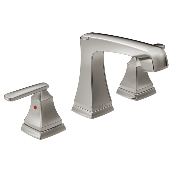 DELTA 3564-SSMPU-DST ASHLYN TWO HANDLE WIDESPREAD LAVATORY FAUCET,STAINLESS MC351690