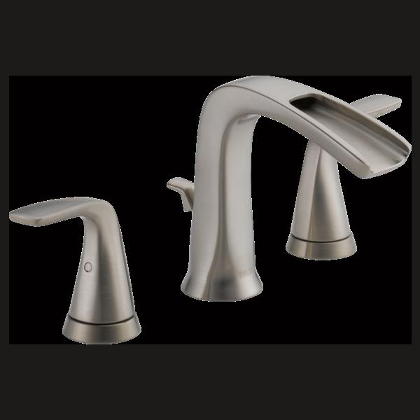 Two Handle Widespread Bathroom Faucet LFSSECO Delta Faucet - 8 inch single handle bathroom faucet