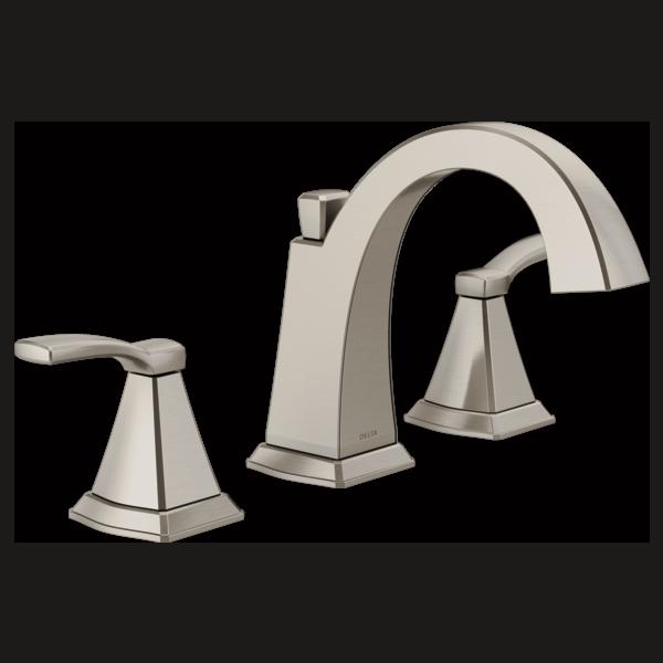 Two handle widespread bathroom faucet 35768lf ss delta - Delta bathroom faucets brushed nickel ...