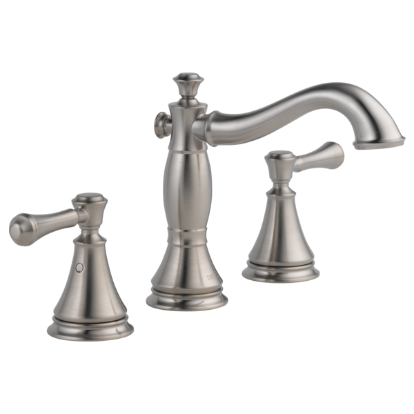 Two Handle Widespread Bathroom Faucet 3597lf Ssmpu Delta Faucet