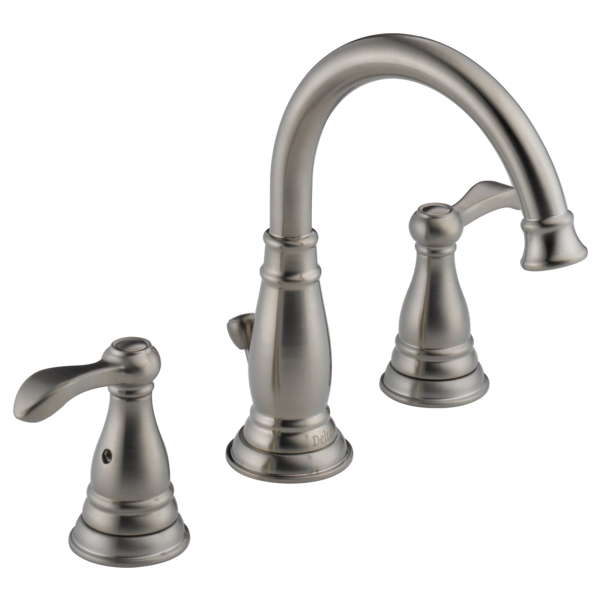 Two handle widespread bathroom 35984lf bn delta faucet for Delta widespread bathroom faucet