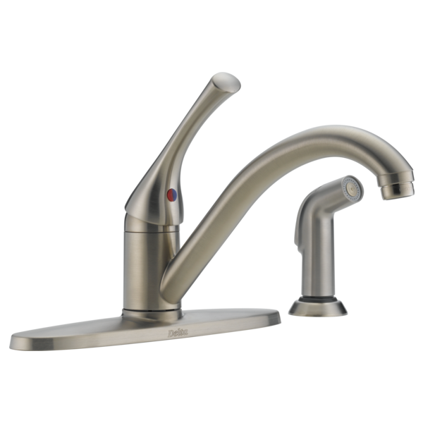 Single Handle Kitchen Faucet With Spray 400 Ss Dst A