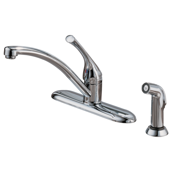 Single Handle Kitchen Faucet with Spray 400-WF-A | Delta Faucet