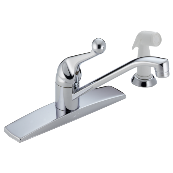 Single Handle Kitchen Faucet with Spray 400-WF | Delta Faucet