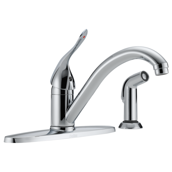 Delicieux Single Handle Kitchen Faucet With Spray