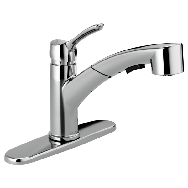 Delta Pull Out Kitchen Faucets 4140-dst - single handle pull-out kitchen faucet
