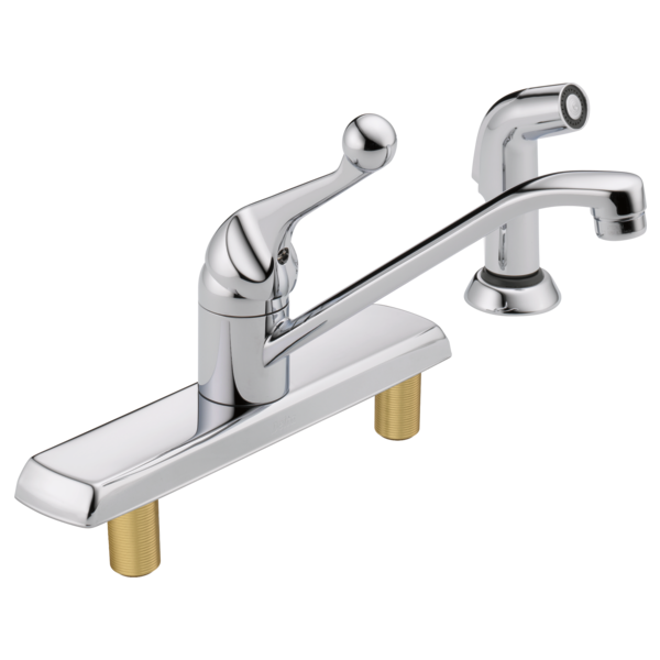 Single Handle Kitchen Faucet With Spray 420lf Delta Faucet