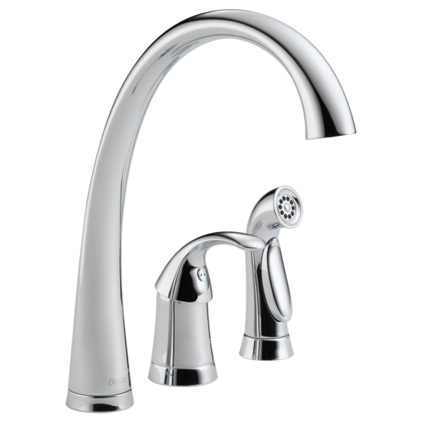 Single Handle Kitchen Faucet With Spray 4380 Dst Delta Faucet