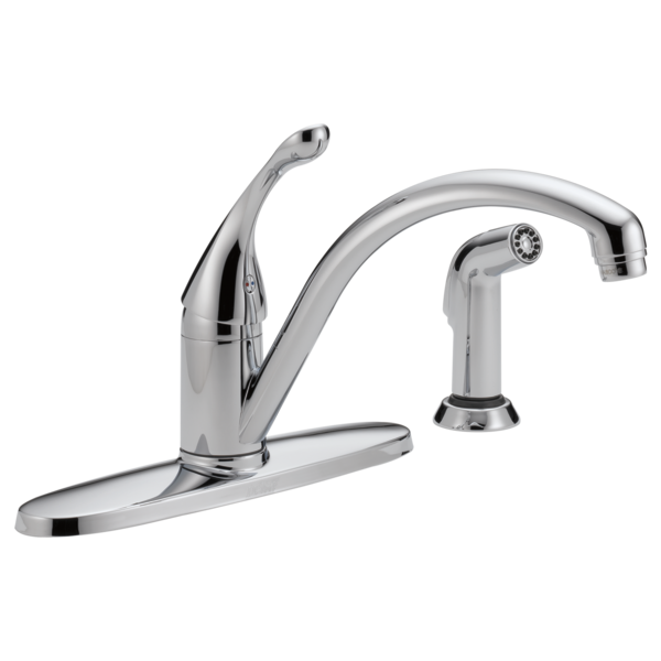 Single Handle Kitchen Faucet with Spray 440-DST | Delta Faucet