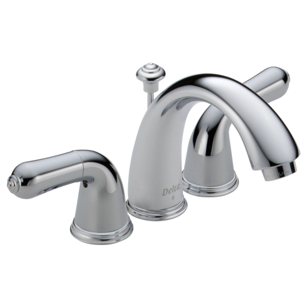 Two handle mini widespread lavatory faucet 4530 24 delta faucet for Delta widespread bathroom faucet