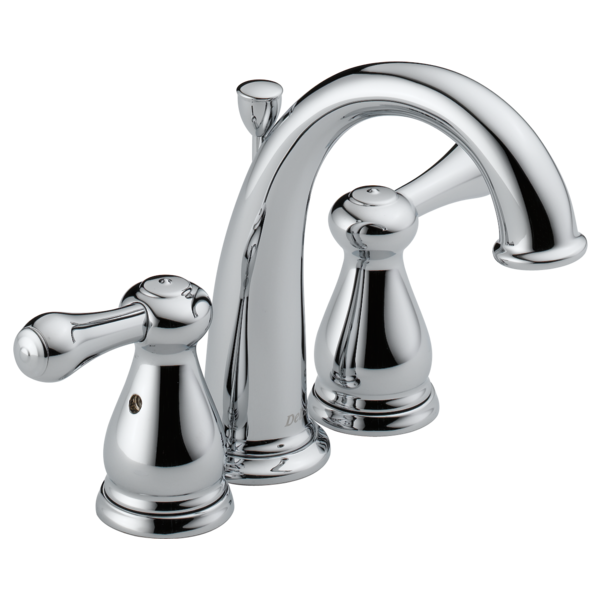 Two handle mini widespread bathroom faucet 4575 delta faucet for Delta widespread bathroom faucet