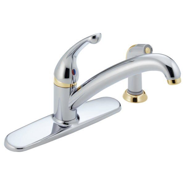 Single Handle Kitchen Faucet 480-CBWF | Delta Faucet