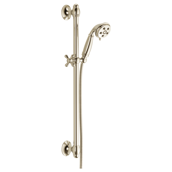 //WSL// DELTA 51308-PN H20KINETIC 3-SETTING HAND SHOWER WITH SLIDE BAR INCLUDES 60