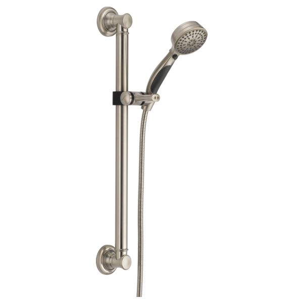 DELTA 51900-SS ADA PERSONAL SHOWER, INCLUDES 9 SETTING HANDSET INCLUDING PAUSE, ADA BAR, 60-82