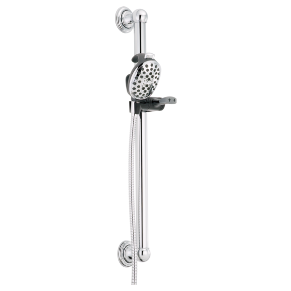 Palm<sup>&reg;</sup> 4-Setting Slide Bar / Grab Bar Hand Shower