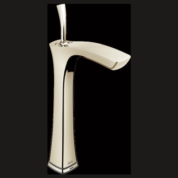 Llave para baño tipo vasija de una manija con tecnología Touch<sub>2</sub>O.xt<sup>®</sup>