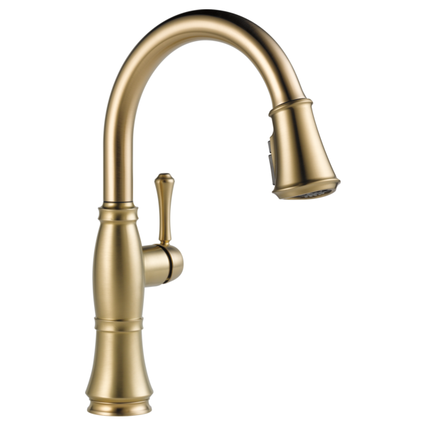 Single Handle Pull Down Kitchen Faucet With Shieldspray Technology 9197 Cz Dst Delta Faucet