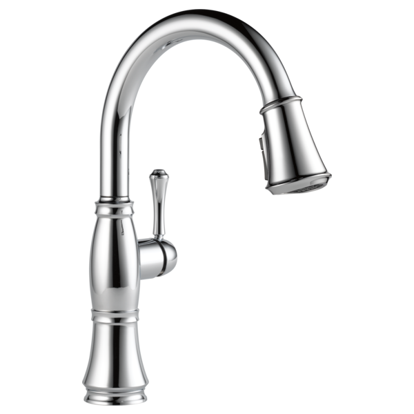 DELTA 9197-DST CASSIDY SINGLE HOLE PULL-DOWN KITCHEN FAUCET CHROME MC315235