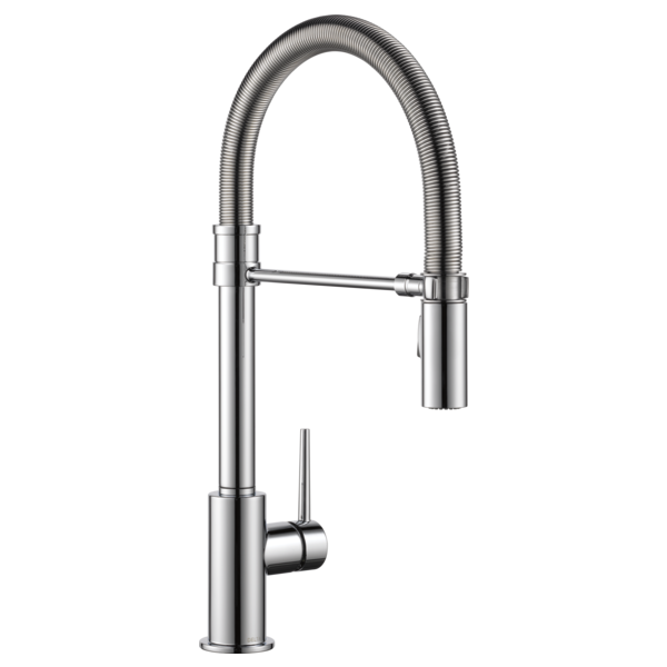 9659-dst - single handle pull-down kitchen faucet with spring spout