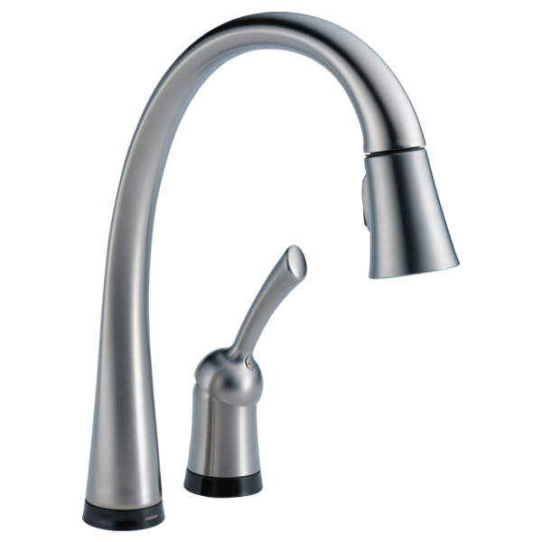 Delta Pull Down Kitchen Faucet 980t-ar-dst - single handle pull-down kitchen faucet with touch2o
