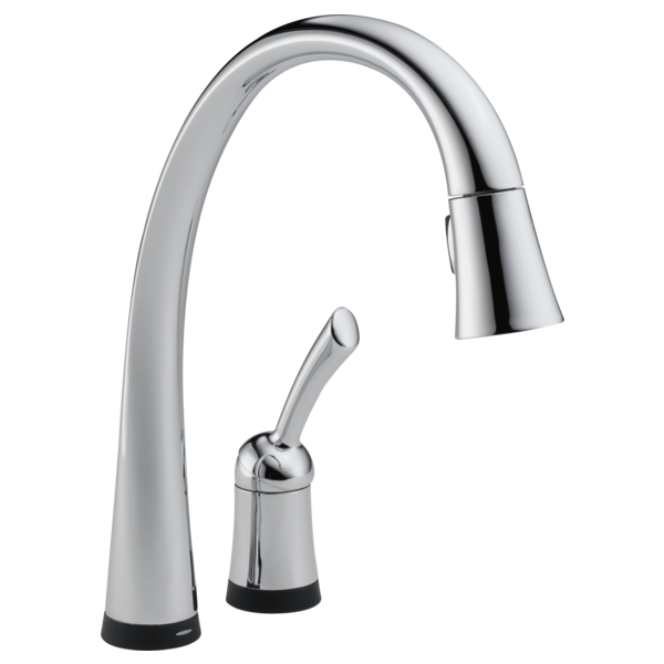single handle pulldown kitchen faucet with touch2o technology