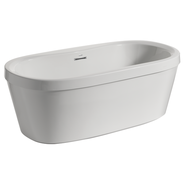 """60"""" X 32"""" Freestanding Tub With Integrated Waste And"""