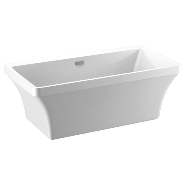 60\'\' x 32\'\' Freestanding Tub with Integrated Waste and Overflow ...