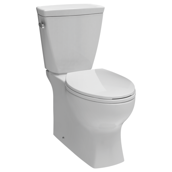 Elongated Concealed Trapway Toilet Rigid Supply Line