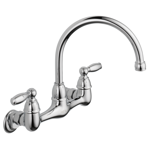 Delta 2 Handle Kitchen Faucets p299305lf - two handle wall mounted kitchen faucet