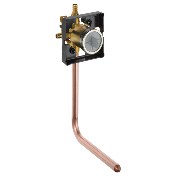 DELTA R10000-PFT-PX ROUGH IN VALVE WITH PEX INLETS AND COPPER TUB DROP ELL MC383485