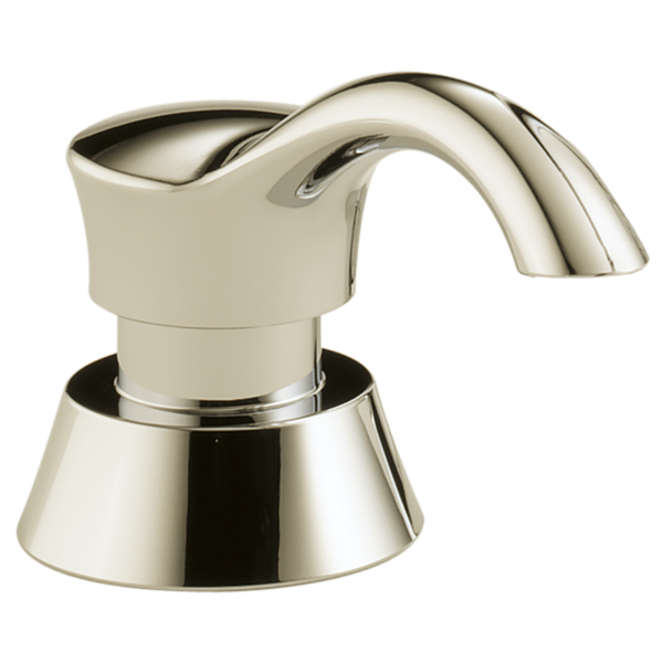 DELTA RP50781PN DELUCA SOAP / LOTION DISPENSER, POLISHED NICKEL (ORDER RP30395 VENTED REFILL FUNNEL SEPARATELY) MC365796