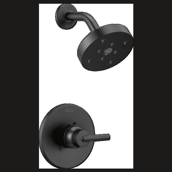 DELTA T14259-BL TRINSIC SHOWER TRIM MATTE BLACK MC374342