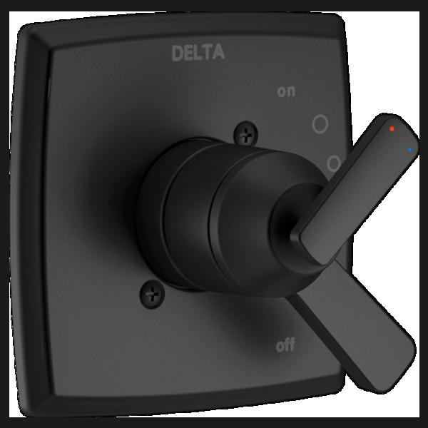 DELTA® T17064-BL Monitor® 17 Valve Only Trim, 6.2 gpm Valve, 1.75 gpm Shower, Matte Black