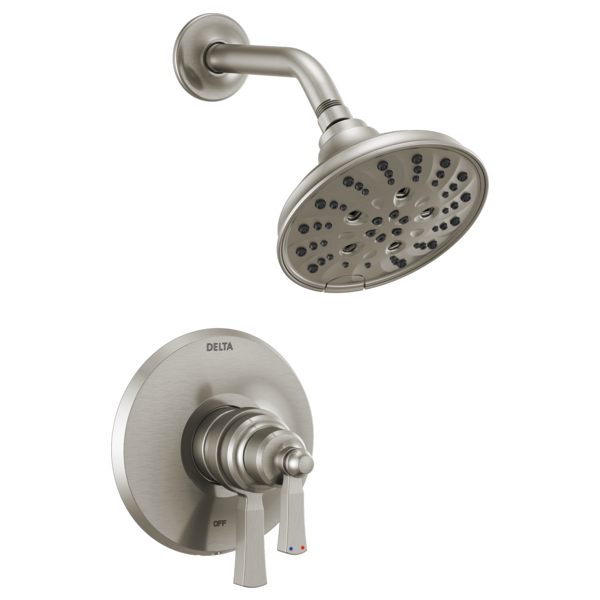 DELTA® T17256-SS Monitor® 17 Shower Trim Only, 6.2 gpm Valve, 1.75 gpm Shower, Brilliance® Stainless Steel