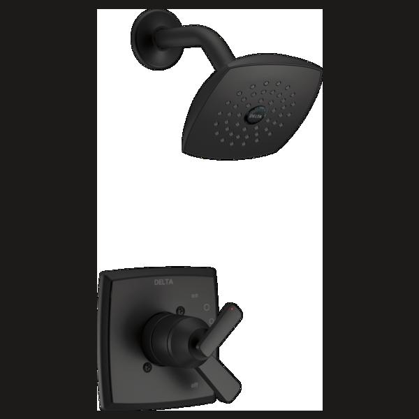 DELTA® T17264-BL Monitor® 17 Shower Trim, 6.2 gpm Valve, 1.75 gpm Shower, Matte Black