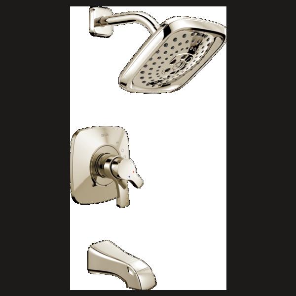 t17452 pn monitor 17 series h2okinetic tub and shower trim. Black Bedroom Furniture Sets. Home Design Ideas