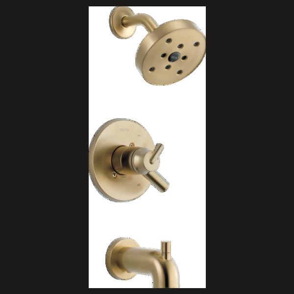 DELTA® T17459-CZ Monitor® 17 Tub and Shower Trim, 1.75 gpm Shower, Brilliance® Champagne Bronze