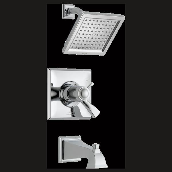 DELTA® T17T451 TempAssure® 17T Tub and Shower Trim, 2.5 gpm Shower, Polished Chrome