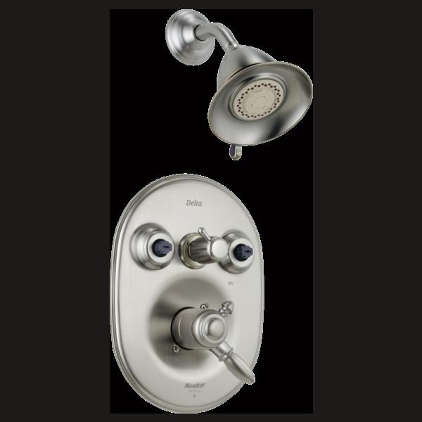Delta Bathroom Faucet Parts >> Jetted Shower Trim T1825-SS   Delta Faucet
