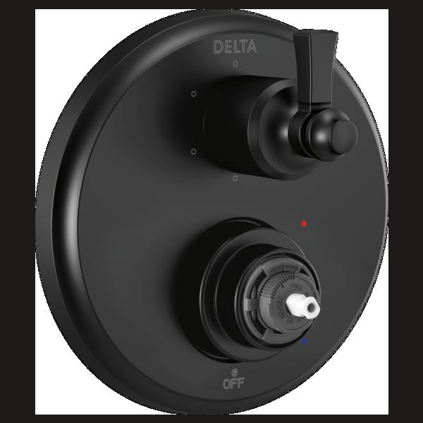 DELTA® T24956-BLLHP Monitor® 14 Traditional Valve Trim With 6-Setting Diverter, Matte Black