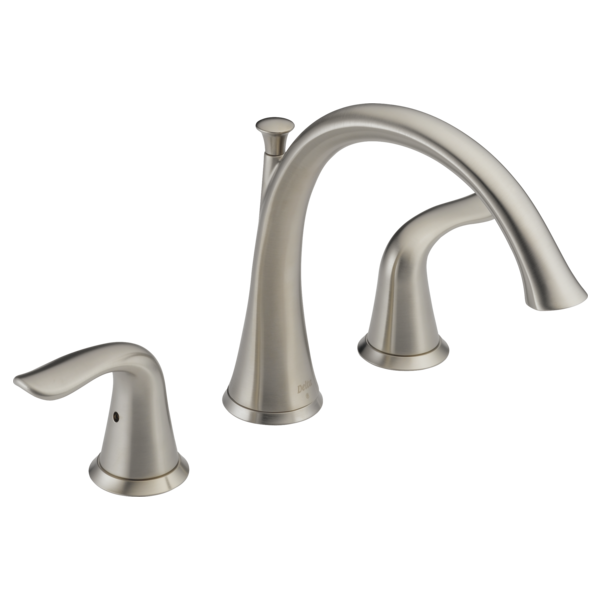 DELTA T2738-SS LAHARA STAINLESS ROMAN TUB TRIM INCLUDES TWO HANDLES MC265051