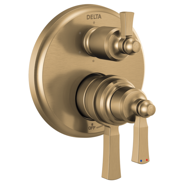 DELTA® T27956-CZ Monitor® 17 Traditional Valve Trim With 6-Setting Diverter, 5.8 gpm Valve, Brilliance® Champagne Bronze