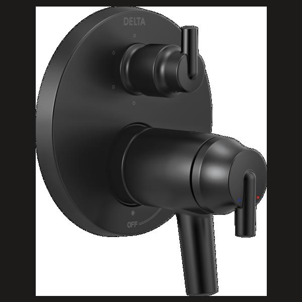 DELTA® T27T959-BL TempAssure® 17T Contemporary Valve Trim With 6-Setting Integrated Diverter, Matte Black