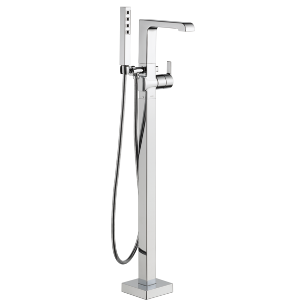 Single Handle Floor Mount Tub Filler Trim With Hand Shower T4767 Fl Delta Faucet